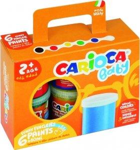 Farba tempera do malowania palcami Carioca 80ml 6 kolorów (170-2275)