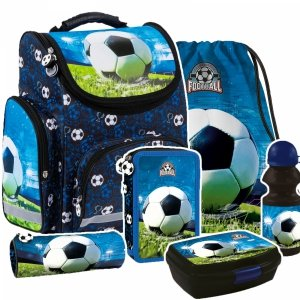 ZESTAW 6 el. Tornister szkolny ergonomiczny FOOTBALL Piłka nożna (TEMBPI16SET6CZ)