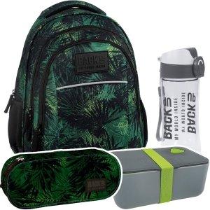 ZESTAW 4 el. Plecak szkolny młodzieżowy BackUP dżungla, KOMANDO (PLB2H49SET4CZ)
