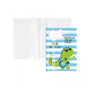 Etui okładka na książeczkę zdrowia dziecka DINOZAUR  (KZ-00-05)