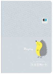 Zeszyt A5 w kratkę 32 kartek B&B HEDGEHOG jeżyk (61298)