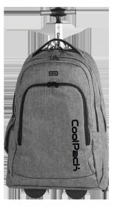 Plecak szkolny młodzieżowy na kółkach COOLPACK SUMMIT szary, SNOW GREY 844 (75961)