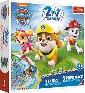 TREFL Gra planszowa 2 w 1 PSI PATROL Chińczyk oraz Psi Wyścig (01896)