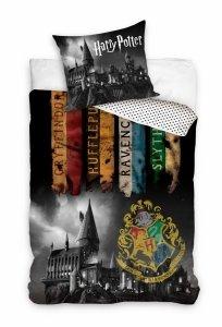 ZESTAW 3 el. Pościel bawełniana 140 x 200 cm + RĘCZNIK + PODUSZKA Harry Potter (HP203002SET3CZ)