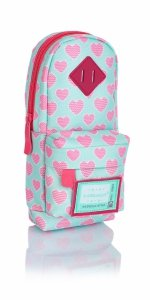 Piórnik szkolny HASH plecaczek w różowe serca, PINK HEARTS HD-242 (505019026)