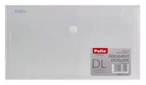 Teczka koperta transparentna na dokumenty DL PATIO biała (PAT3153/N/13)