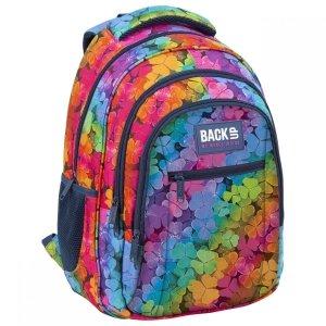 Plecak szkolny młodzieżowy BackUP 26 L koniczynki, LUCKY (PLB3O16)