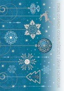 Kartka świąteczna firmowa BOŻE NARODZENIE 12 x 17 cm + koperta (47547)