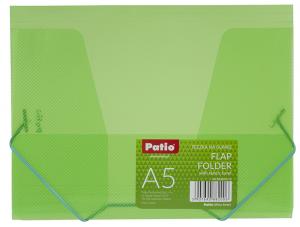 Teczka transparentna A5 na gumkę ZIELONA (PAT4004S/N/15)