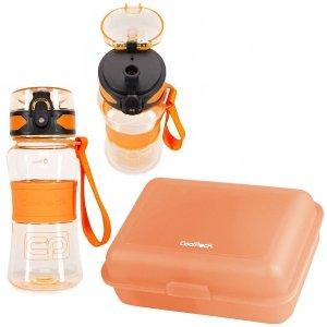 Zestaw bidon Tritanum 390 ml i śniadaniówka CoolPack FROZEN 2 pomarańczowy (Z03992+95174)