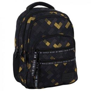Plecak szkolny młodzieżowy BackUP 28 L klocki, V-MEN (PLB4M44)