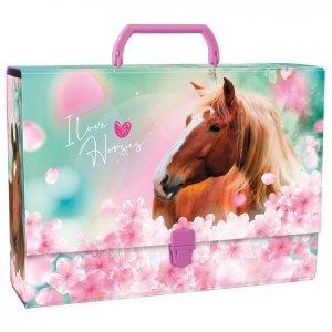 Gruba teczka z rączką I LOVE HORSES Konie (TRGKO19)