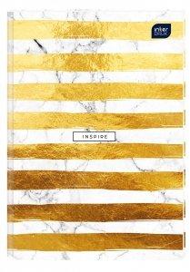 Brulion A5 96 kartek w linię, twarda oprawa INSPIRE (15314)