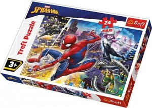 TREFL Puzzle MAXI 24 el. Nieustraszony Spiderman (14289)