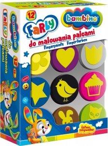 Farby do malowania palcami + stempelki pieczątki BAMBINO dla dziewczynki (03165)