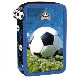 Piórnik z wyposażeniem, dwukomorowy FOOTBALL Piłka nożna (PWDPI16)