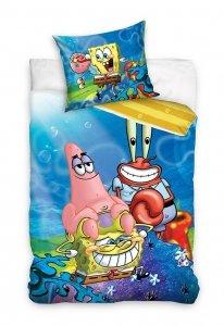 Pościel bawełniana Spongebob Kanciastoporty 160 x 200 cm komplet pościeli (SBOB201001)