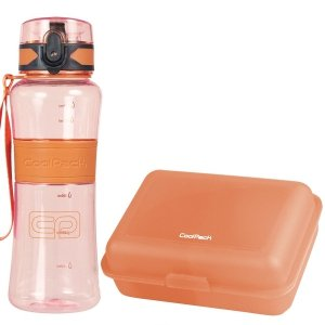 Zestaw bidon Tritanum 550 ml i śniadaniówka CoolPack FROZEN 2 pomarańczowy (Z03992+67539CP)