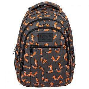 Plecak szkolny młodzieżowy BackUP 26 L lisy, FOX (PLB3O39)