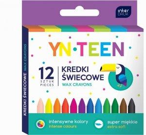 Kredki świecowe 12 kolorów YN TEEN (54702)