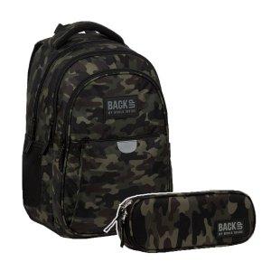 ZESTAW 2 el. Plecak wczesnoszkolny BackUP 22 L MORO (PLB3P22SET2CZ)