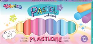 Plastelina PASTEL pastelowa 12 kolorów COLORINO  (87805PTR)