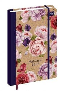 Kalendarz książkowy B6 FLOWERS Kwiaty 2021 (73253)
