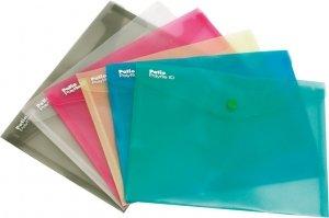 Teczka koperta transparentna na dokumenty A5 PATIO zielona (PAT3139A/N/15)