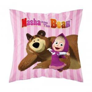 Poszewka na poduszkę MASZA I NIEDŹWIEDŹ 40 x 40 cm (MASHA025)