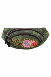 SASZETKA NERKA CoolPack na pas torba ALBANY z naszywkami, BADGES G GREEN (B75157)