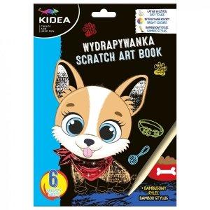 Wydrapywanka Zdrapywanka A5 PIESKI PSY 6 arkuszy KIDEA (WYPKA)