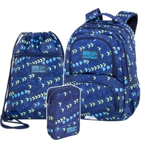ZESTAW 3 el. Plecak CoolPack SPINER 24 L strzałki, CHEVRON (C01172SET3CZ)