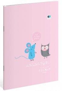 Zeszyt A4 w kolorową linię 32 kartki B&B Kids Pastel MIX (97433)