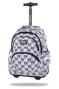 Plecak CoolPack STARR 27 L na kółkach buldogi, FRENCH BULLDOGS (C35247)