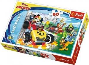 TREFL Puzzle 60 el. Rajd z przyjaciółmi, Myszka Mickey (17322)