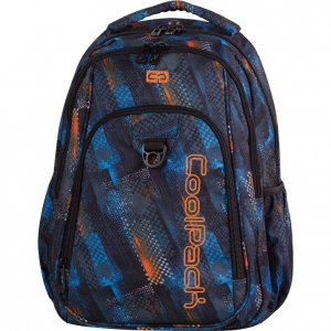 Plecak CoolPack STRIKE w niebiesko - pomarańczowe wzory, TIRE TRACKS (73356)