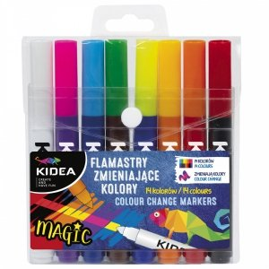 Flamastry zmieniające kolor 8 szt KIDEA (FZKKA)