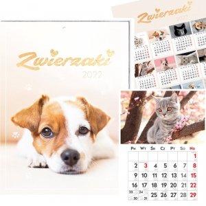 Kalendarz ścienny ZWIERZAKI 31 x 23 cm 2022 (00171)