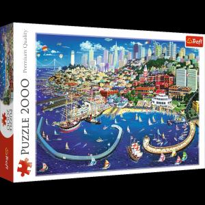 TREFL Puzzle 2000 el. Zatoka San Francisco (27107)