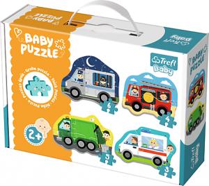 TREFL Puzzle BABY Pojazdy i zawody (36071)