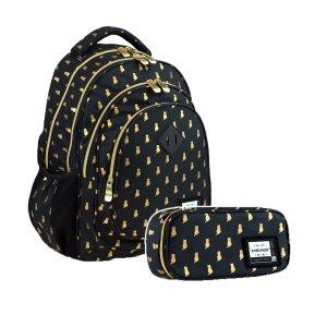 ZESTAW 2 el. Plecak HEAD 24 L kotki, GOLDEN KITTY (502020037SET2CZ)