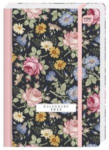 Kalendarz książkowy B6 BOTANIC Kwiaty 192 strony 2022 (00317)