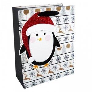 Torebka świąteczna na prezent PINGWIN Incood. (0071-0313)