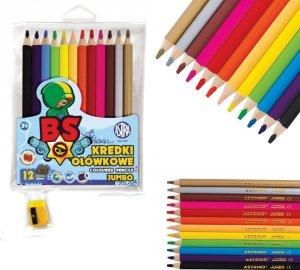 Kredki ołówkowe okrągłe JUMBO 12 kolorów z temperówką Brawl Stars ASTRA (312221006)