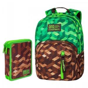 ZESTAW 2 el. Plecak CoolPack DISCOVERY 27 L miejska dżungla, CITY JUNGLE (C38199SET2CZ)
