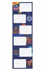 Nalepki naklejki na zeszyty STARPAK Planety Kosmos 6 sztuk mix (451657)