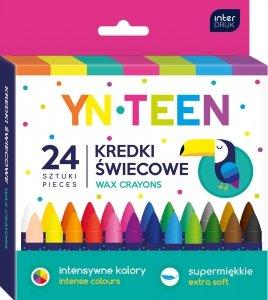 Kredki świecowe 24 kolory YN TEEN woskowe (59295)