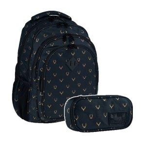 ZESTAW 2 el. Plecak szkolny HASH 27 L jeleń, OH DEER (502020057SET2CZ)