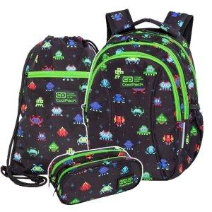ZESTAW 3 el. Plecak wczesnoszkolny CoolPack JOY S 21L piksele, PIXELS (C48233SET3CZ)