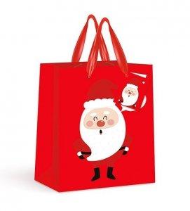 Torebka świąteczna na prezent MIKOŁAJ Interdruk (92292)